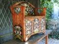 LAITA-lemn de brad pictat  125x133x50cm
