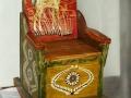Balansoar pentru copii-lemn de brad pictat    70x35x60cm