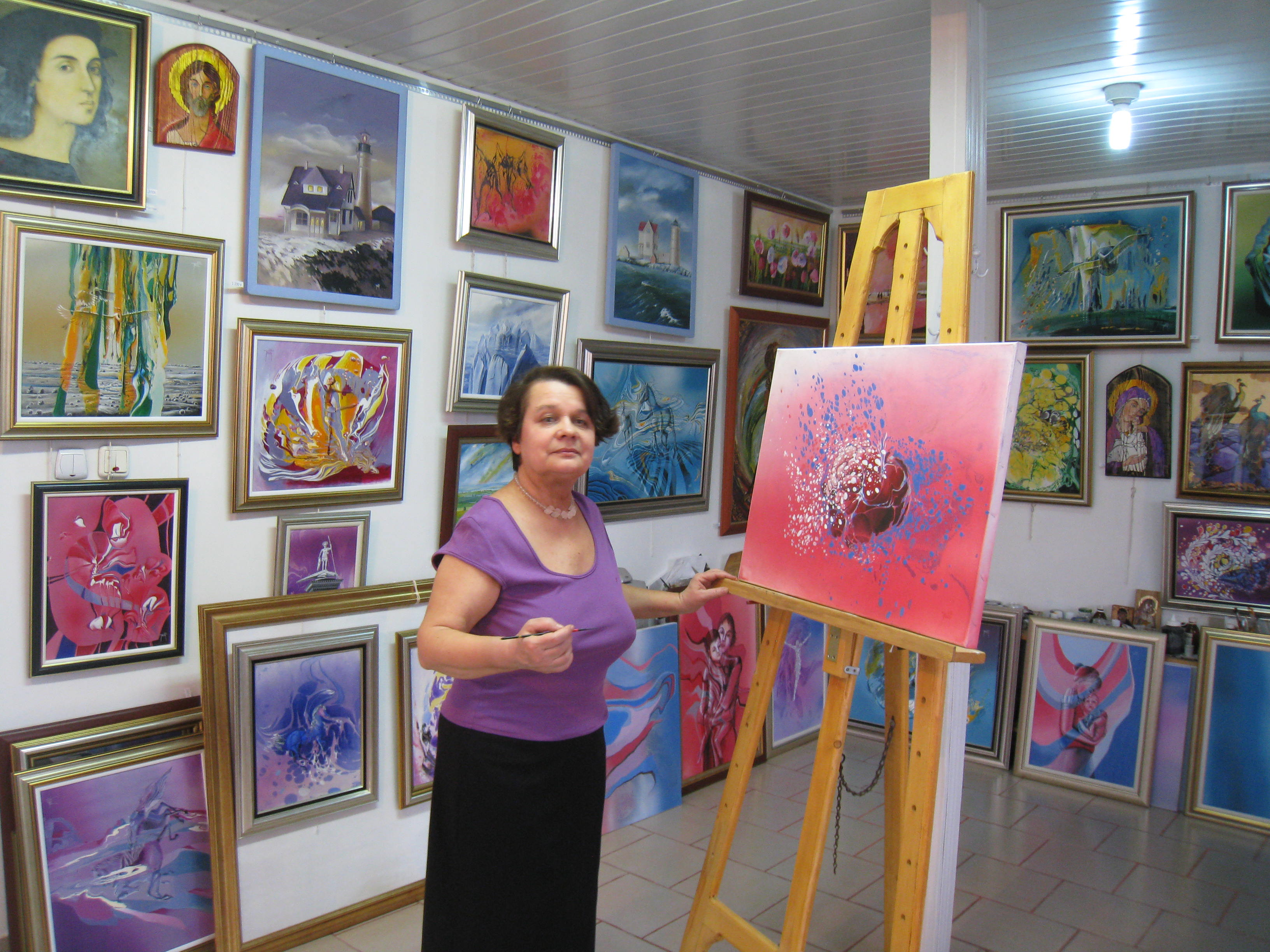 Artista in atelier