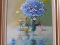 Natura statica cu albastrele,ulei/pinza,53x70cm