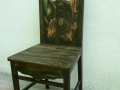 SCAUN-lemn de fag+brad,traforat si pictat. Dim.97x48x42cm