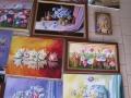 Panou cu tablouri in lucru